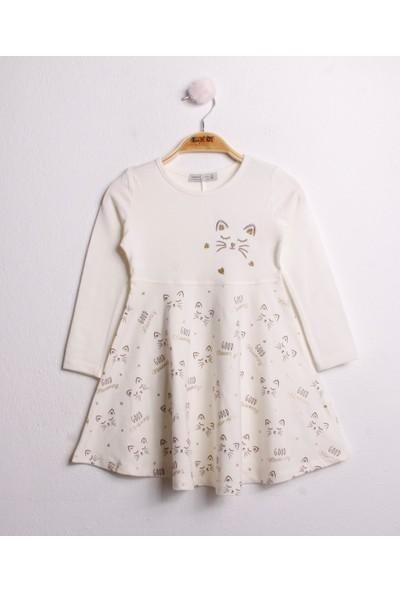 Toontoy Kız Çocuk Elbise Göğsü Nakış