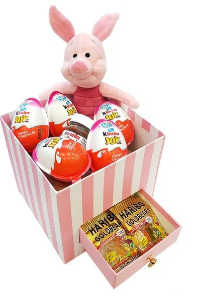 Chavin Lüx Kutu İçinde Disney Piglet Peluş Kinder Nutella Haribo Yap87