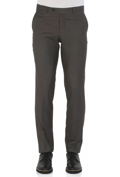 Morven Bora Slimfit Pantolon Kahverengi