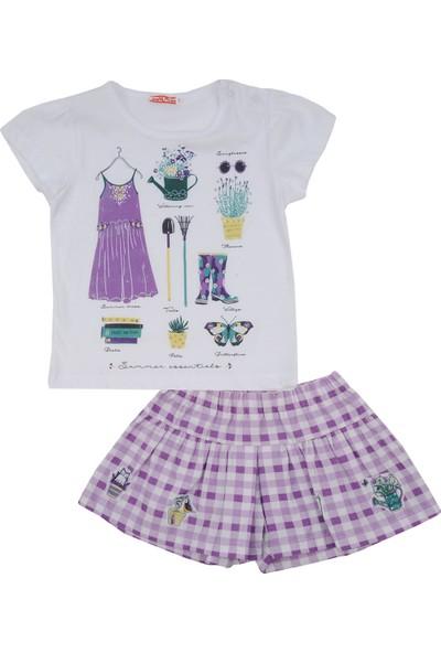 Zeyland Kız Çocuk T-Shirt+Etek Takım