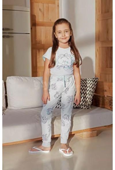 Feyza Kız Çocuk Kısa Kol Pijama Takım