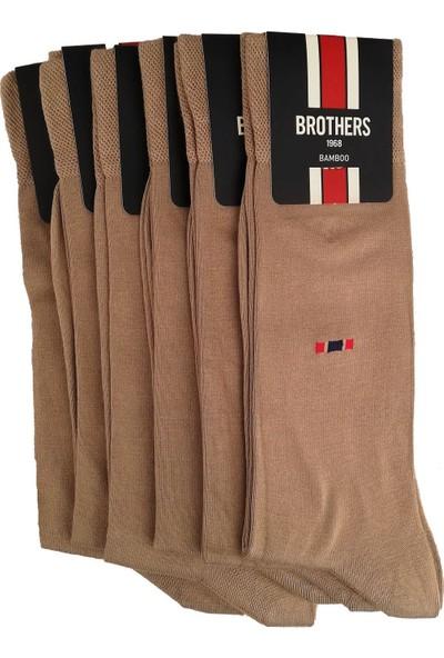 Brothers 6'lı Kum Rengi Bambu Erkek Çorap CRP58