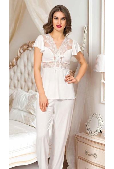 Angel's Story 2620 Kadın Pamuk Pijama Takımı
