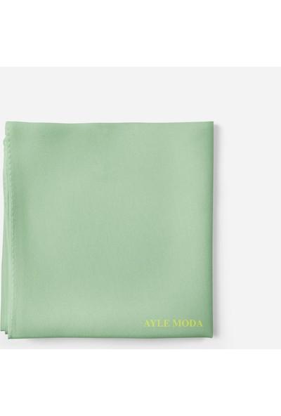 Sedef Deniz Yeşili Şifon Şal 72x200