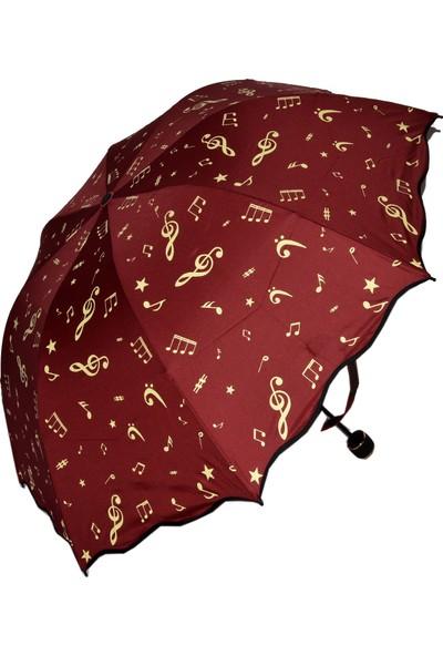 Marlux Sol Anahtarı & Melodi Bordo Şemsiye