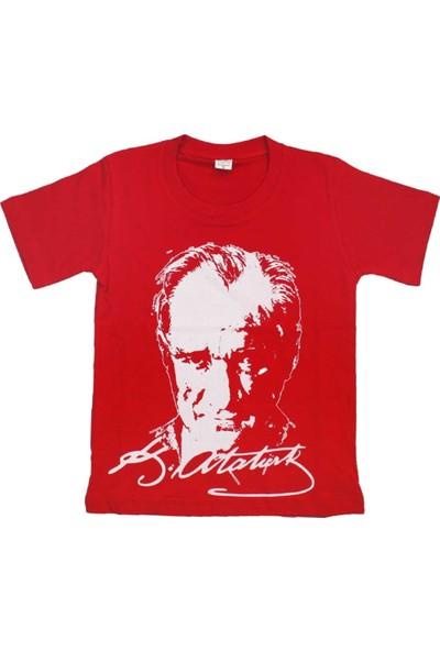 Modakids Çocuk Atatürk Baskılı Kırmızı Tshirt 019-1924-002