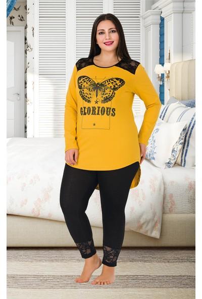 Lady Büyük Beden Pijama Takımı 158