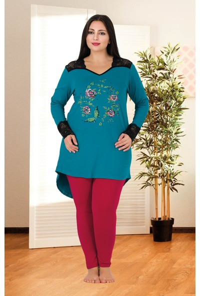 Lady Büyük Beden Pijama Takımı 159