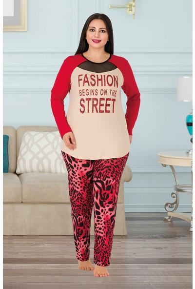 Lady Büyük Beden Pijama Takımı 166