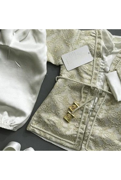 Ponpon Baby Erkek Bebek Mevlüt Şehzade Seti Gold 411