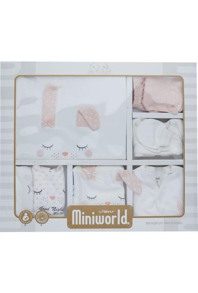 Miniworld Kız Bebek Hastane Çıkışı 10 Lu Zıbın Seti Miniword 14228