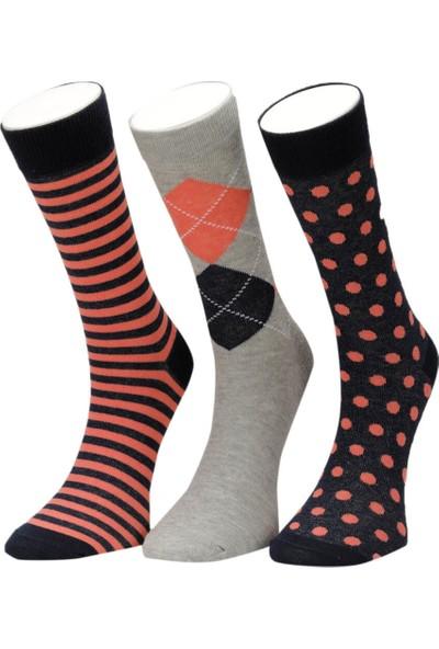 Garamond Color Baklava 3 Lu Skt-M Pembe Erkek Soket Çorap