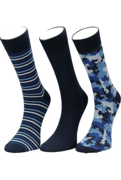 Garamond Kamuflaj 3 Lu Skt-M Mav Erkek Soket Çorap