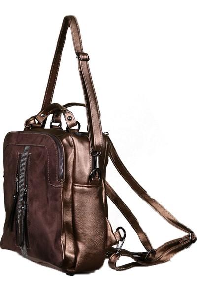 Zerrin Çanta Yıkanmış Deri Kadın El-Kol-Sırt Çantası