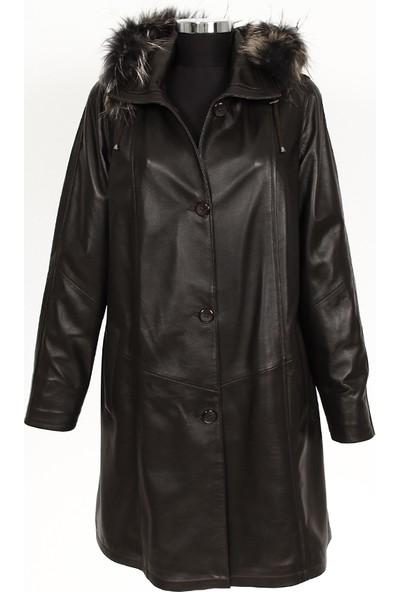 Gön Deri Kadın Trenchcoat D4523