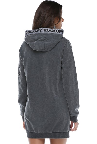Rockupy Kadın Kapüşonlu Elbise