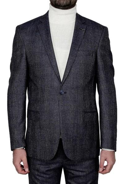 Buenza Armando Mono Cift Yrt Slim Fit Ceket - Lacivert
