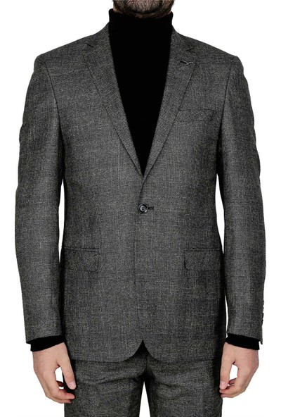 Buenza Armando Mono Cift Yrt Slim Fit Ceket - Siyah