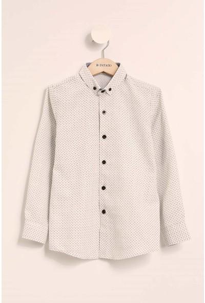 Defacto Erkek Çocuk Uzun Kollu Desenli Gömlek