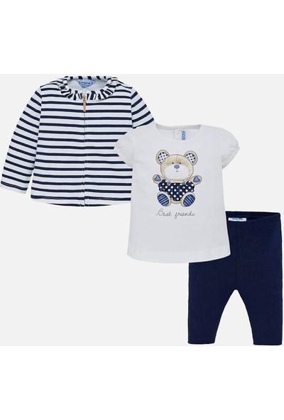 Mayoral Yazlık Kız Bebek Bluz Ceket Tayt 3'Lü Set 1742