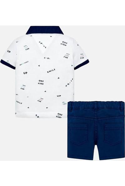 Mayoral Yazlık Erkek Bebek Polo Yaka T-Shirt Şort 2'Li Set 1254