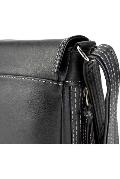 Voo Siyah Askılı Çanta