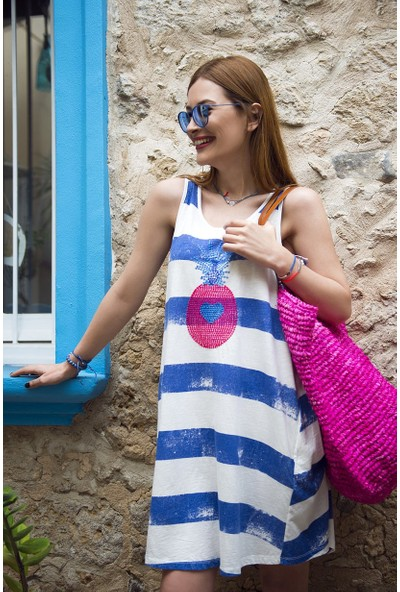 My Summer Blue Cancun Elbise