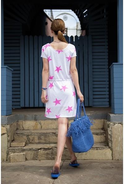 My Summer Blue Çeşme Elbise