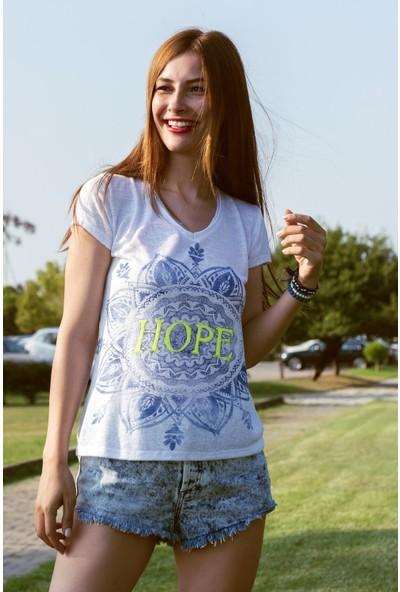 My Summer Blue Mavi Hope T-Shirt
