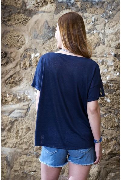 My Summer Blue Kaktüs T-Shirt