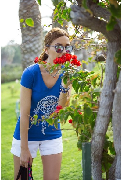 My Summer Blue Düşkapanı T-Shirt