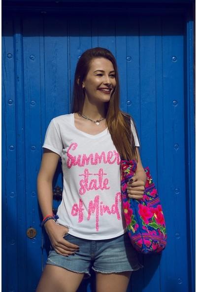 My Summer Blue Mykonos T-Shirt