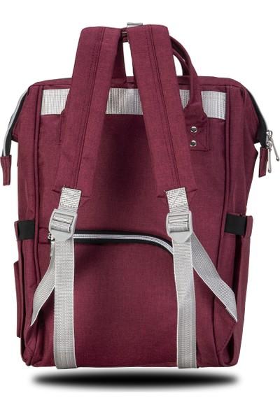 Fudela Mom-Baby Backpack Burgundy