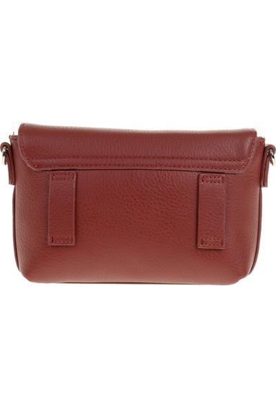 David Jones Kadın Flap Askılı Çanta Koyu Kırmızı