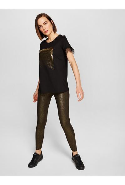Faik Sönmez Baskılı Dantelli T-Shirt 38760