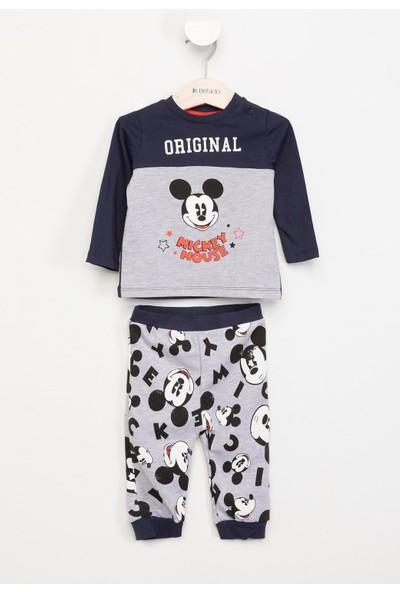 Defacto Erkek Çocuk Mickey Mouse Baskılı Lisanslı Pijama Takımı