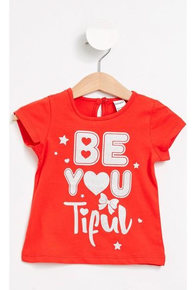 Defacto Kız Bebek Baskılı Kısa Kollu T-Shirt