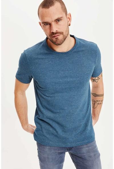 Defacto Erkek Slim Fit Kısa Kollu T-Shirt