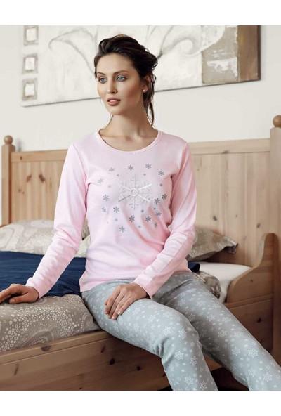 Şahinler Kadın Pembe Pijama Takımı MBP23610-1