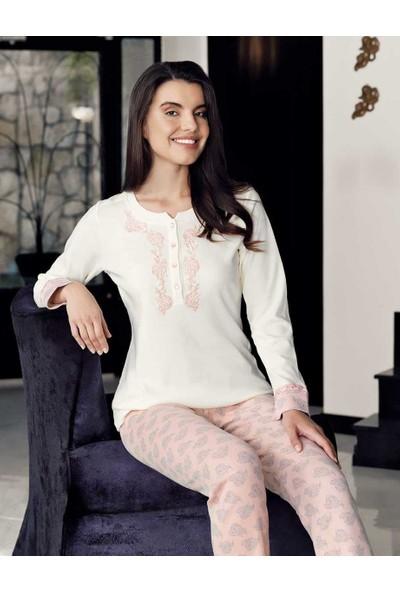 Şahinler Kadın Pijama Takımı Desenli MBP23716-1