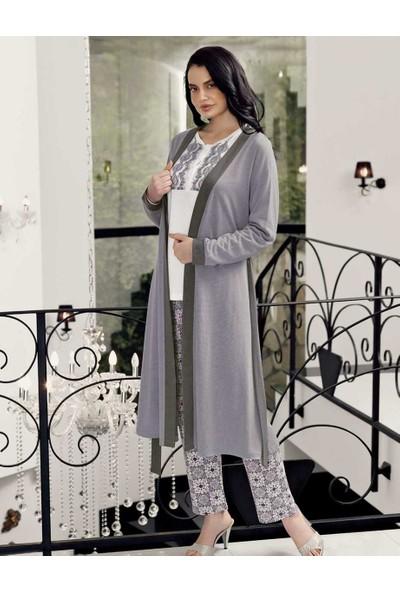 Şahinler Sabahlıklı Kadın Pijama Takımı MBP24406-1
