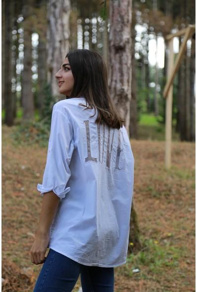 Bade Butik Love Sırt Detaylı Beyaz Gömlek