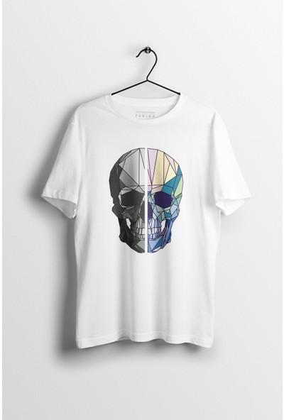 Tshigo Erkek Watercolor Skull Baskılı Tshirt