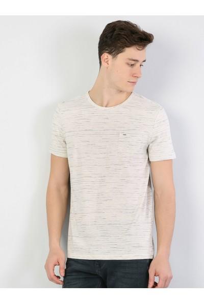 Colin's Bej Erkek Kısa Kollu T-Shirt