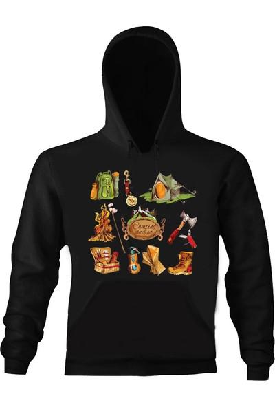 Art T-Shirt Camping Set Unisex Kapüşonlu Sweathirt