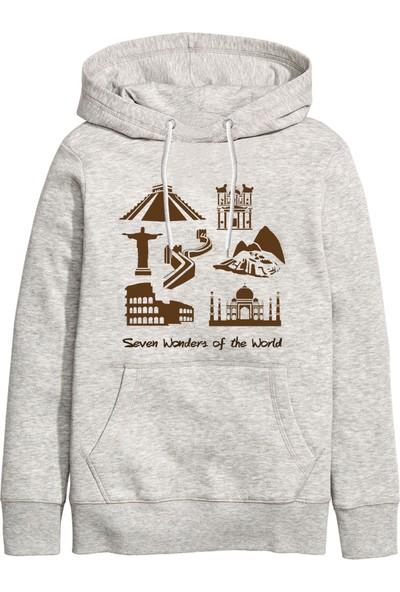 Art T-Shirt Seven Wonders Kapüşonlu Sweatshirt