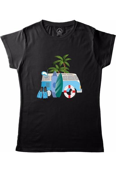 Art T-Shirt Summer Holiday Kadın T-Shirt