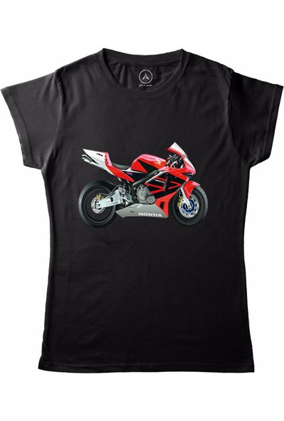 Art T-Shirt Honda Motorcycle Kadın T-Shirt