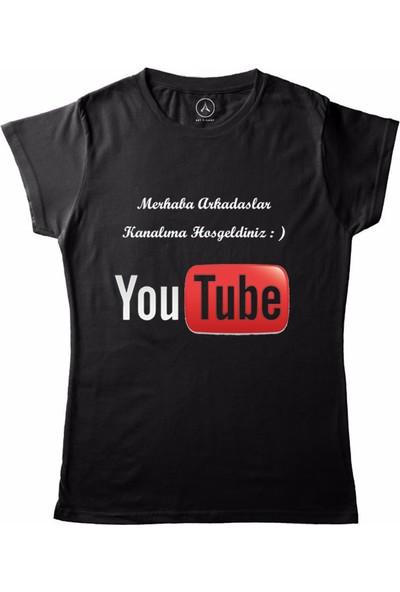 Art T-Shirt Youtube Kanalim Kadın T-Shirt