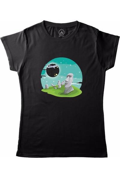 Art T-Shirt Rapa Nui Kadın T-Shirt
